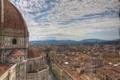 View Over Firenze With Famous Church