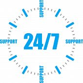 24/ 7 all-day customer support call-center