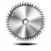detailed illustration of circular saw blade