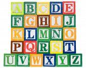Letter Blocks In Alphabetical Order