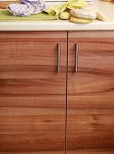 Cupboard Wood Door Cabinet In Kitchen