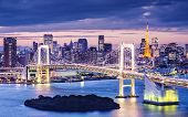 picture of minato  - Tokyo Bay at Rainbow Bridge - JPG