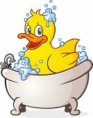 Rubber Duck Bubble Bath Cartoon Character