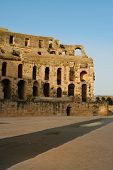 Tunis antique city of El Jem. Coliseum.