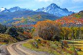 Scenic back road near Ridgeway Colorado