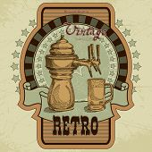 picture of drawing beer  - label for a beer in a retro style - JPG