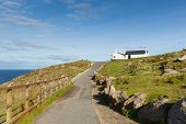 Path to Land`s End Cornwall UK the most westerly point of England