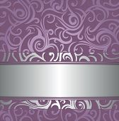 Pale wedding  lavender  luxury vintage design