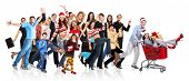 stock photo of boxing day  - Happy funny people - JPG