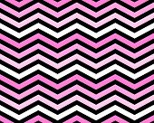 Pink, White And Black Zigzag Pattern Background