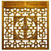 Chinese Gold  Traditional Wood Carvings