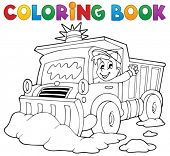Coloring book snow plough - eps10 vector illustration.