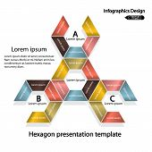 Colorful Hexagonal Step by Step