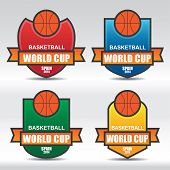 Basketball Badges - Illustration