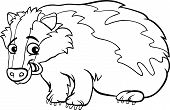 Badger Cartoon Coloring Page