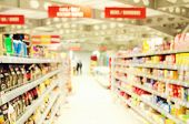 foto of supermarket  - Interior of empty supermarket - JPG