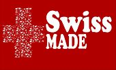 swiss made background with  white cross