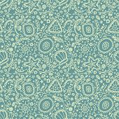 stock photo of protozoa  - Handmade seamless pattern or background with abstract protozoa or abstract plankton - JPG