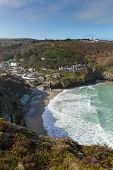St Agnes north coast of Cornwall England United Kingdom located near to Redruth and Newquay