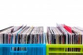 Records In Plastic Boxes