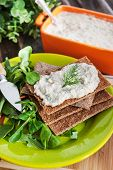 Herring Creamy Pate On A Crispbread