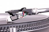 Dj Needle On Spinning Turntable