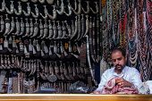 Selling knives in Yemen
