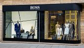 STUTTGART, GERMANY - APRIL 01, 2014: Hugo Boss store. Hugo Boss based in Metzingen in Germany it has