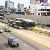 Metropolitano Bus in Lima, Peru