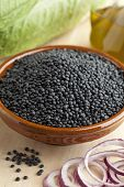 Beluga lentils in a bowl