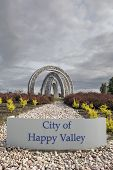 City Of Happy Valley Sign And Art Sculpture