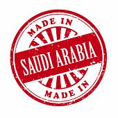 Made In Saudi Arabia Grunge Rubber Stamp