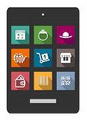 Set of shopping or e-commerce flat icons