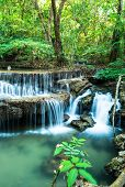 Waterfall In Deep Forest At Huay Mae Ka Min National Park