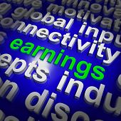 Earnings Shows Wage Prosperity, Career, Revenue And Income