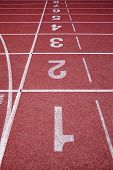 Numbers on running track