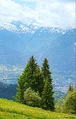 Summer Mountain Landscape (alps, Switzerland)