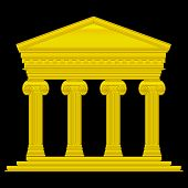 Gold Ionic Temple