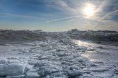 Lake Erie Ice Sunrise