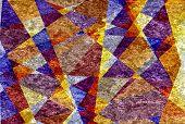 Retro colored mosaic cubism grunge texture