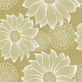 Striped Flowers Pattern