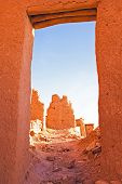 Ait Benhaddou,fortified city, kasbah or ksar, along the former caravan route between Sahara and Marr