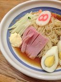 The Cold Remen With Ham And Egg In Lemon Sauce