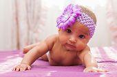 Adorable Little African American Baby Girl