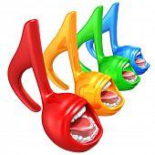 Spectrum Singing Music Notes