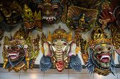 Colourful Traditional Balinese Masks