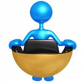 Sitting In Hovering Futuristic Chair