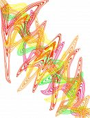 foto of trippy  - An abstract psychedelic two dimensional  line design - JPG