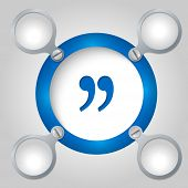 Blue Circular Frame For Text And Quotation Mark