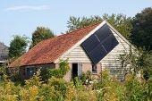 Barn with solar panel